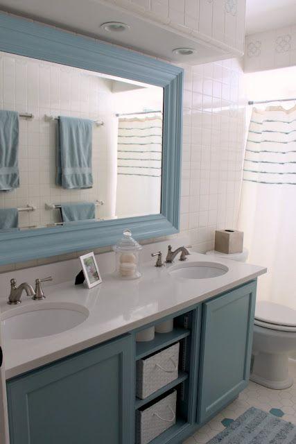 vanity - open shelves, color
