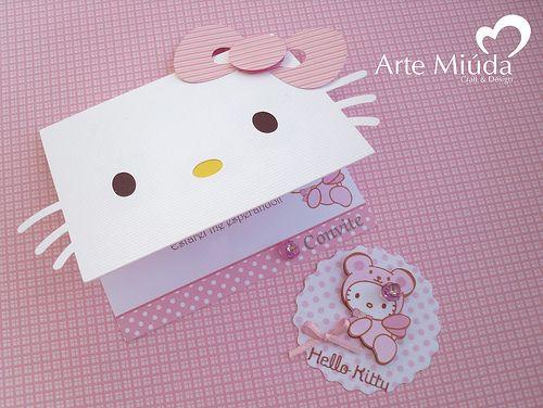 Hello Kitty - convite e tag | Arte Miúda | Flickr