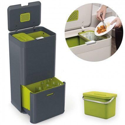 Контейнер для сортировки мусора Totem 60 л графит | Kitchen313
