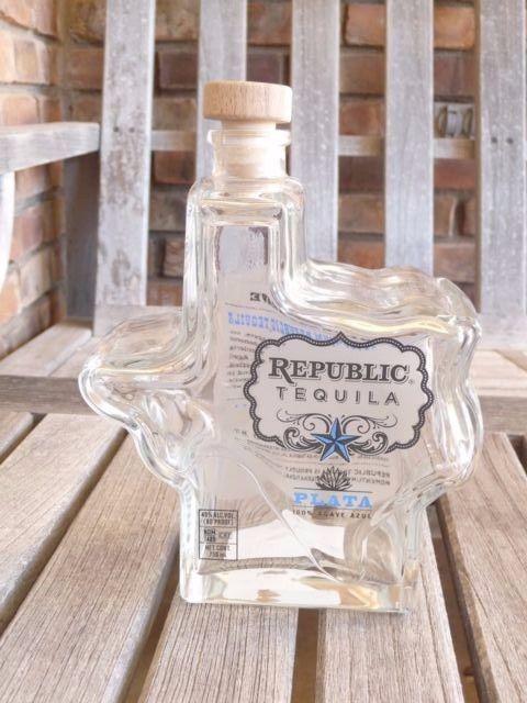 Republic Texas Shaped Empty Tequila Liquor Bottle- 750mL