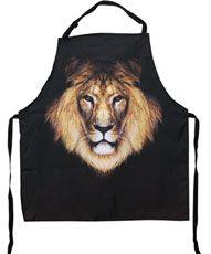 Lion Print Apron
