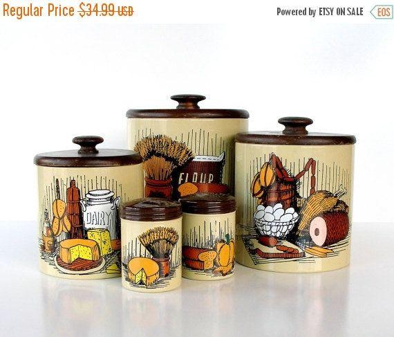 69 best vintage kitchen canisters images on pinterest vintage
