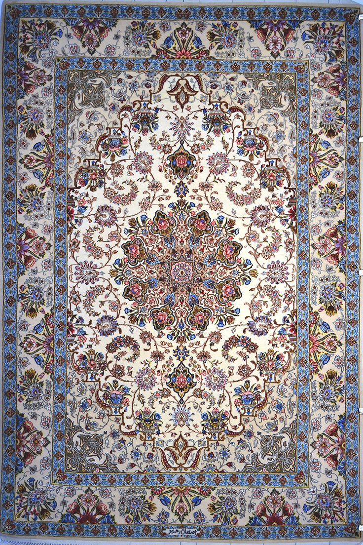 Isfahan Silk Persian Rug   Exclusive collection of rugs and tableau rugs - Treasure Gallery Isfahan Silk Persian Rug You pay: $2,900.00 Retail Price: $6,900.00 You Save: 58% ($4,000.00) Item#: 598 Category: Small(3x5-5x8) Persian Rugs Design:  Size: 196 x 126 (cm)      6' 5 x 4' 1 (ft) Origin: Persian, Isfahan Foundation: Silk Material:  Weave: 100% Hand Woven Age: Brand New KPSI: 600 View Description