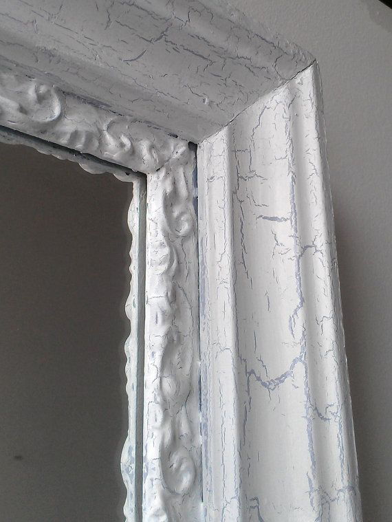 large white mirror in weathered white by