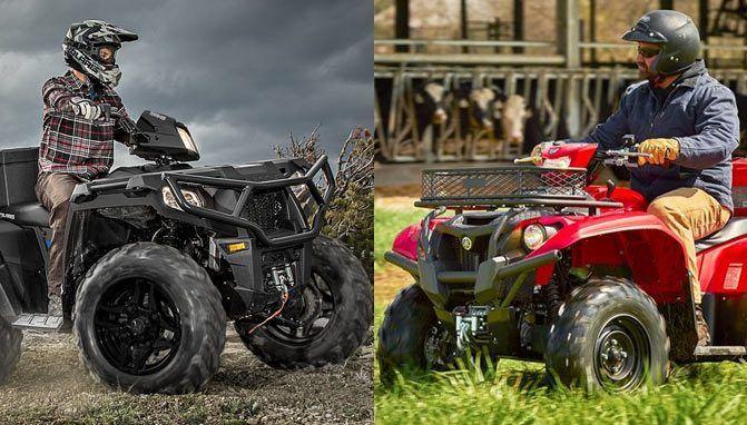 2017 Yamaha Kodiak EPS vs Polaris Sportsman 570 SP A middleweight Utility ATV comparison