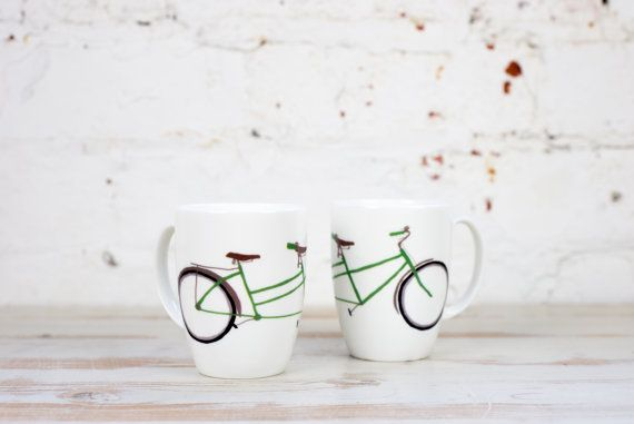 Tandem Bike China Mug