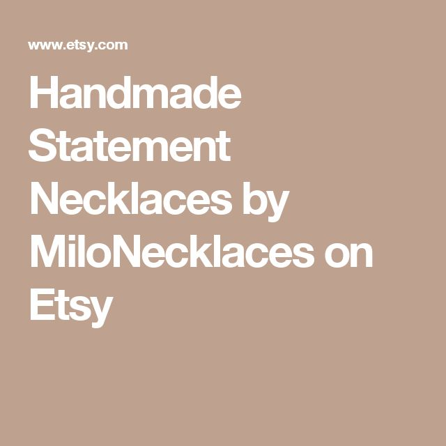 Handmade Statement Necklaces by MiloNecklaces on Etsy