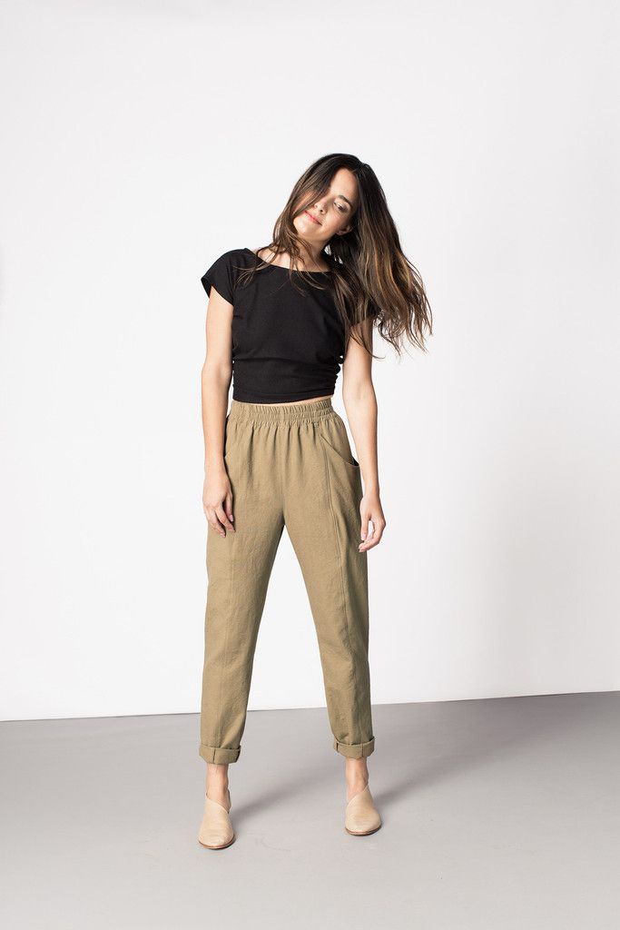 Clyde Work Pant by Elizabeth Suzann