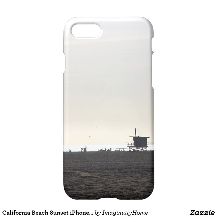 California Beach Sunset iPhone 7 Case: A beautiful sunset overlooking the beach in Santa Monica, California. This tranquil image of the Pacific Ocean and people enjoying the beach in the background will be sure to brighten your day and make you long to return to the coast. A great way to enjoy and protect your new iPhone 7!