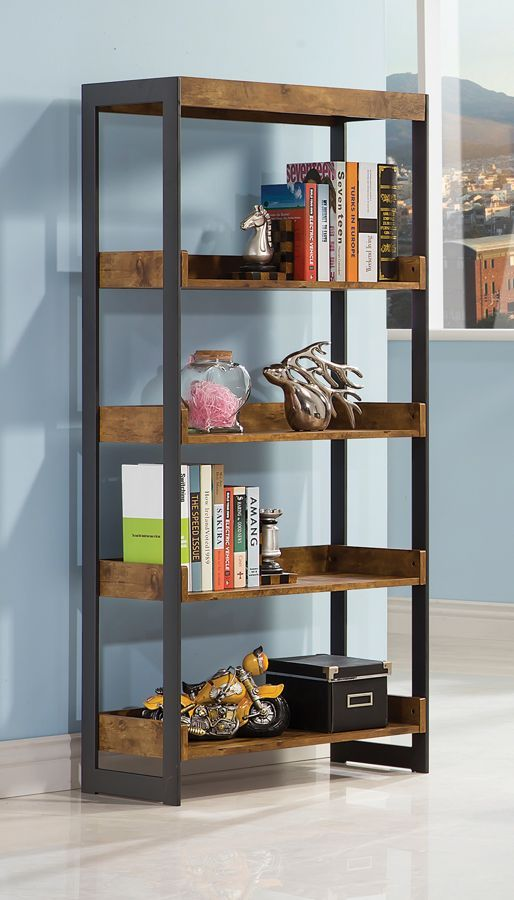 "This bookcase mimics the look you liked and is only 25.5"" wide, BUT out of stock currently (est August in-stock) - might be worth calling them?   Estrella Antique Nutmeg Metal Bookcase"