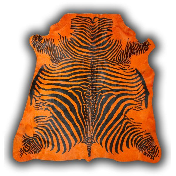 Pieles Pipsa Zebra Orange Rug | Wayfair.co.uk