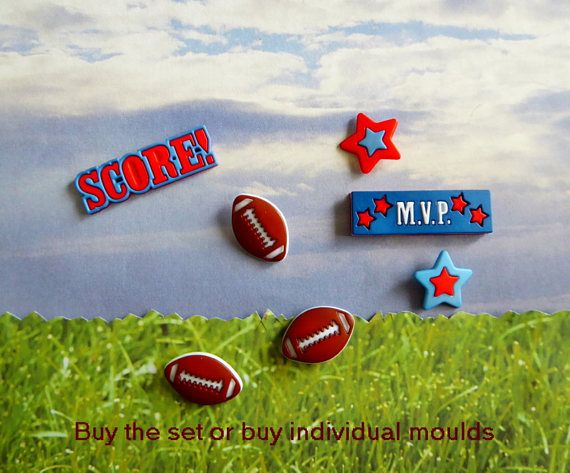 Football Score M.V.P.  Star Silicone Mold Cake Tool Fondant Chocolate Candy Cupcake Topper Polymer Clay DIY Craft