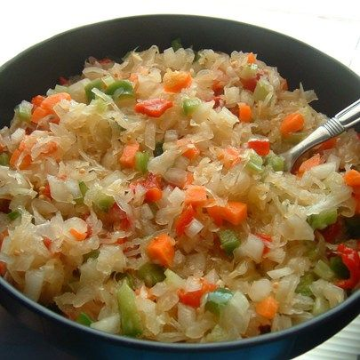 """Sauerkraut Salad I """"I made this for my son's graduation party and got rave reviews from the relatives! They said that they liked it much better than coleslaw."""""""