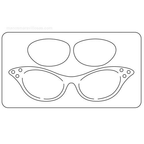 Troquel Sizzix Originals. Gafas de sol retro