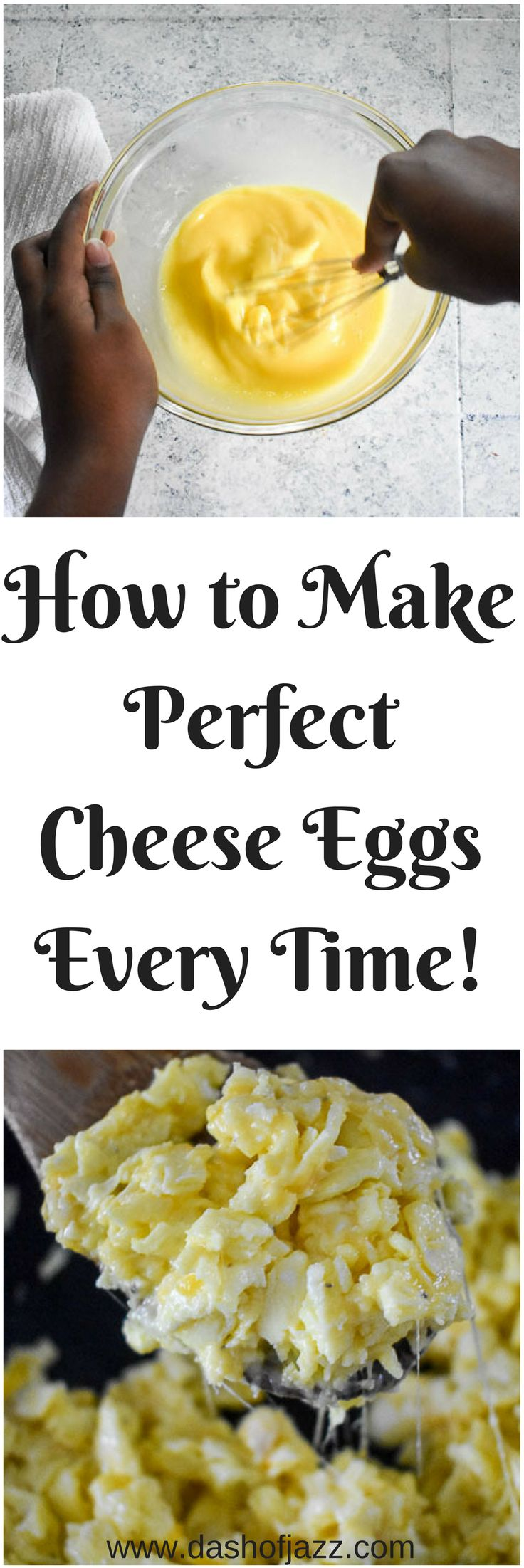 Tried and true method for making the perfect cheesy scrambled eggs for all your breakfast and brunch needs every time! By Dash of Jazz