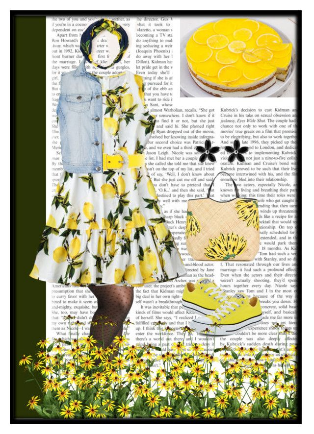 """Summer Lemon Field"" by lashanna-bing on Polyvore featuring Ashley Stewart, Look by M, Converse, D&G, Aranáz and Ally Fashion"
