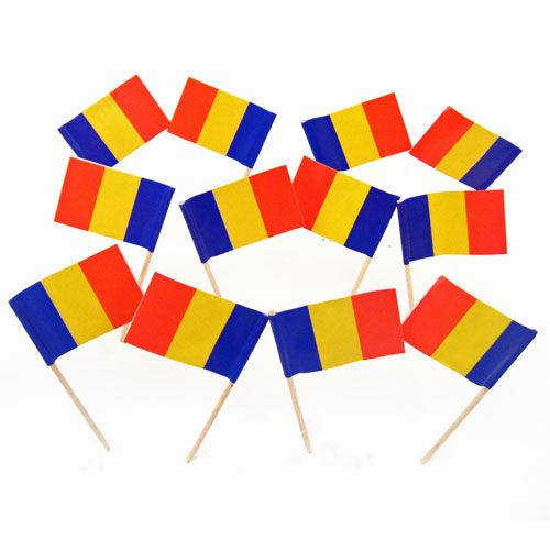 Romanian Flag Toothpicks | Romania | Theme Party Decorations & Supplies