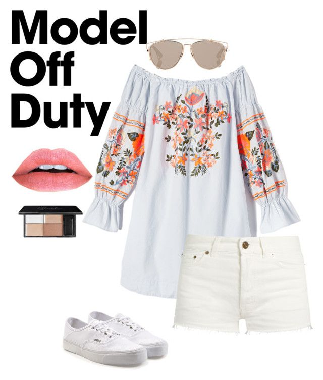"""Untitled #80"" by fhk21 on Polyvore featuring Free People, Yves Saint Laurent, Vans and Christian Dior"
