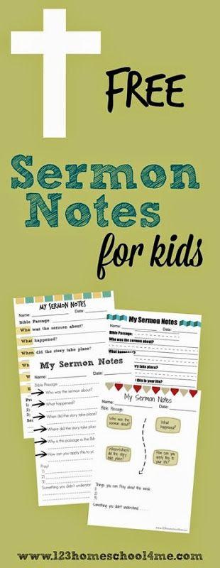 how to write a church sermon