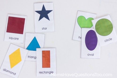 Sorting - 5 Shape Activities for Preschoolers Using Shape Cards - Moms Have Questions Too