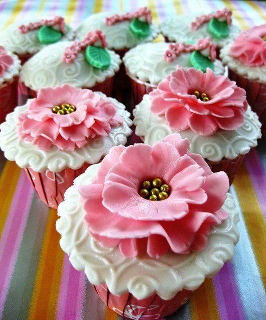 Springtime Theme Wedding Cupcakes by Thecupcakelicious. #indianweddingsmag #weddingcupcakes #cupcake #bakery #weddings #couples #bride #groom #brideandgroom #summerweddings #aboutindianweddings #pink indianweddingsmag.com