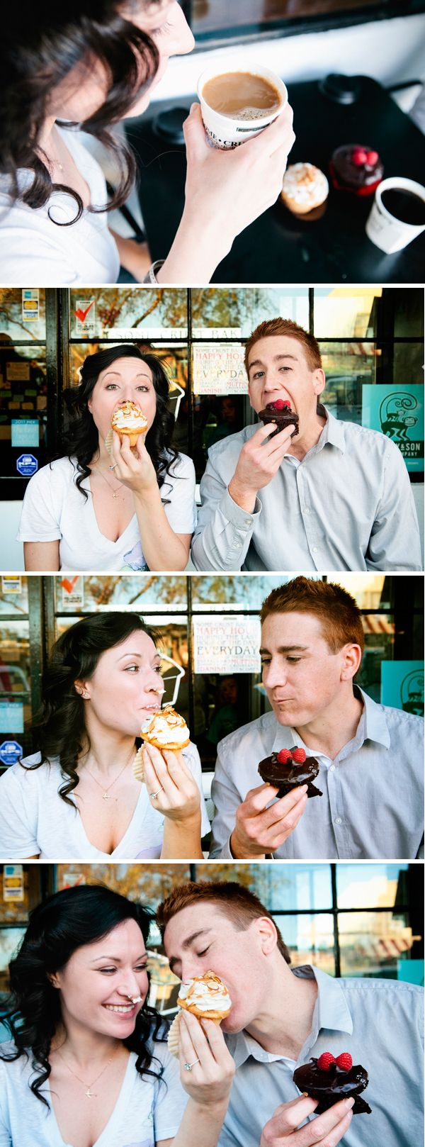 Cute cupcake engagement - Some Crust Bakery - http://studioelevenweddings.com/