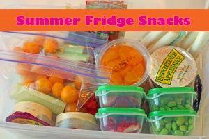Summer Fridge Snacks   Healthy Ideas for Kids