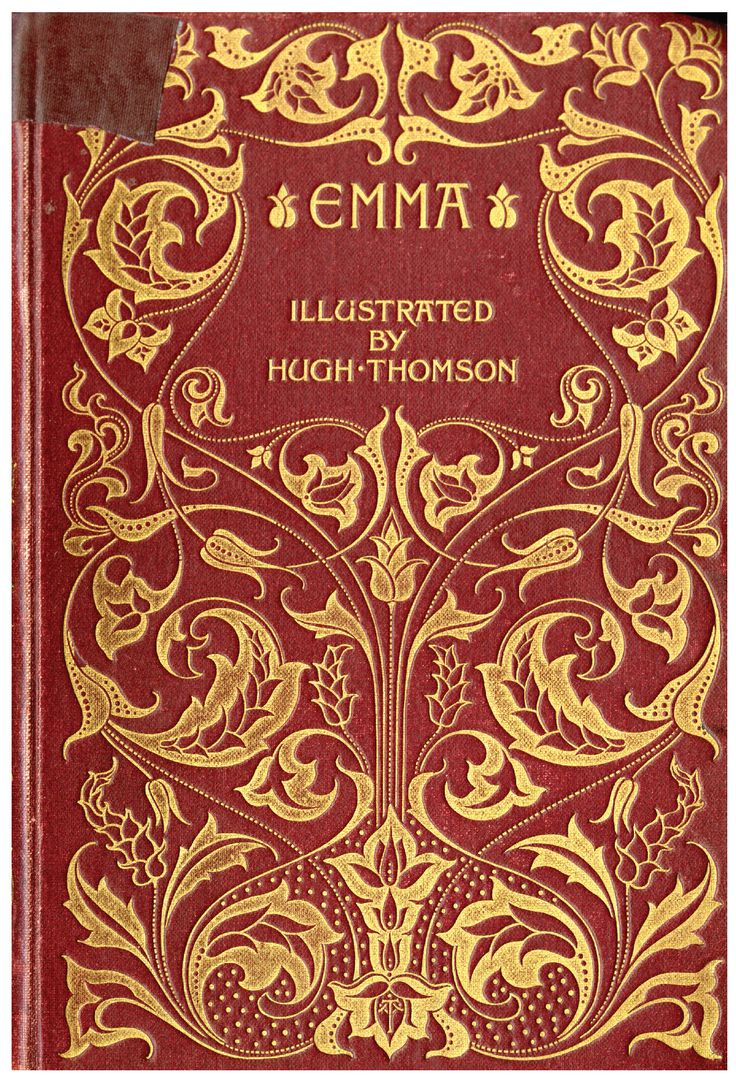 A look at two hundred years of Jane Austen book covers. Pictured: Hugh Thomson Illustrated Edition, ca. 1895–1903. Photo: The Henry and Alberta Hirshheimer Burke Collection and the Winn Family Collection, Goucher College Special Collections.