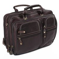 TRAVELLER OVERNIGHT LAPTOP BRIEFCASE In Brown | Adventure Avenue | Mens Holdall | Leather Weekend Bag | Mens Leather Work Bag | Gifts For Men | Gifts For Him | Luxury Gifts | Available at Cuckooland