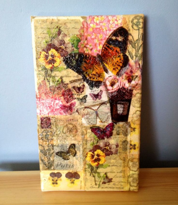 paper napkin decoupage canvas