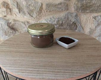 """Bougie décorative - senteur """"café"""" - cire de soja - meche de bois - decoration tendance automne-hiver"""