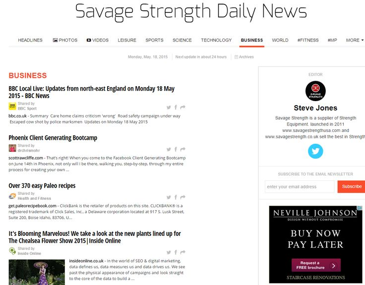 Inside Online feature in Savage Strength Daily #Florists #SEO #PPC #Digitalmarketing #ChelseaFlowerShow