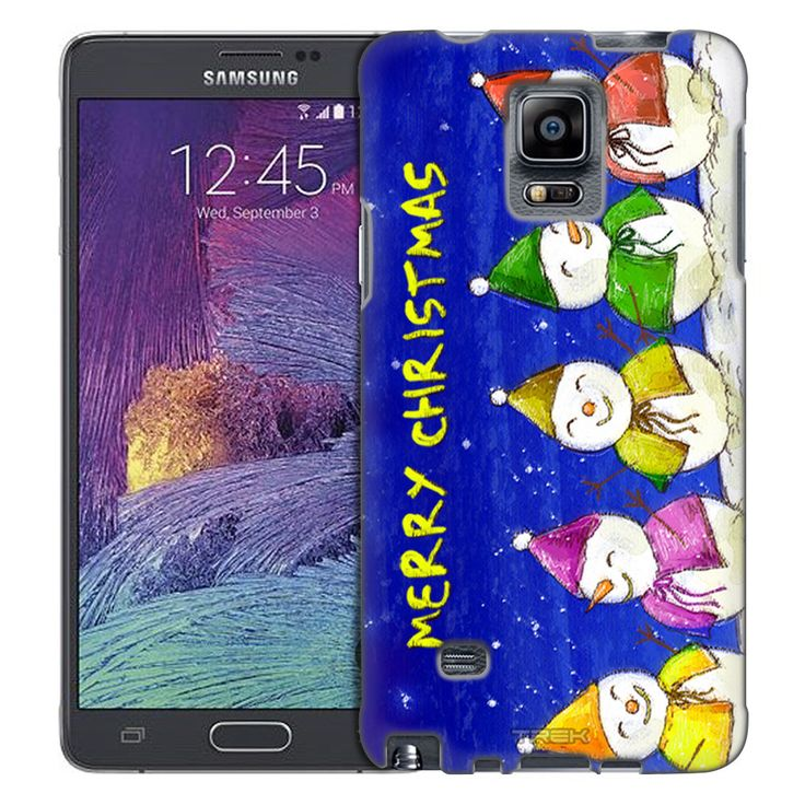Samsung Galaxy Note 4 Merry Christmas Snowmen Trans Case