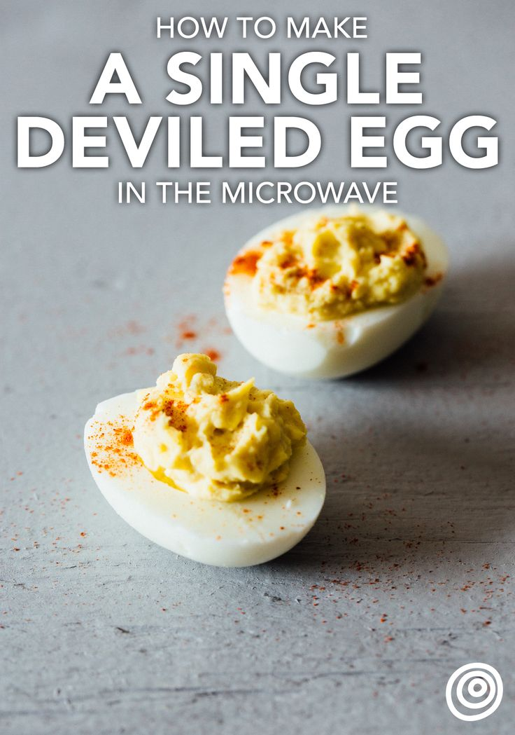 Cooking a deviled egg for one person might sound like a lot of work, but it only takes ten minutes and couldn't be any more easy! This recipe breaks out all the steps to teach you how to hard boil an egg in the microwave so you can have this tasty snack whenever a craving for this comfort food classic strikes.