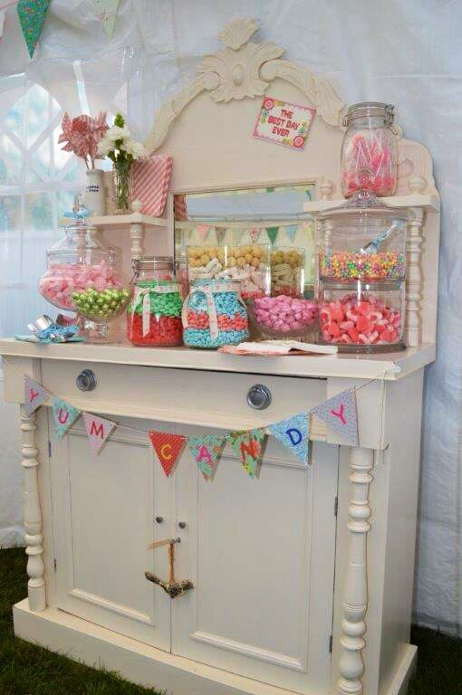"""Candy bar at wedding by awesome """"I know how to do a fine wedding tarn"""" xx"""
