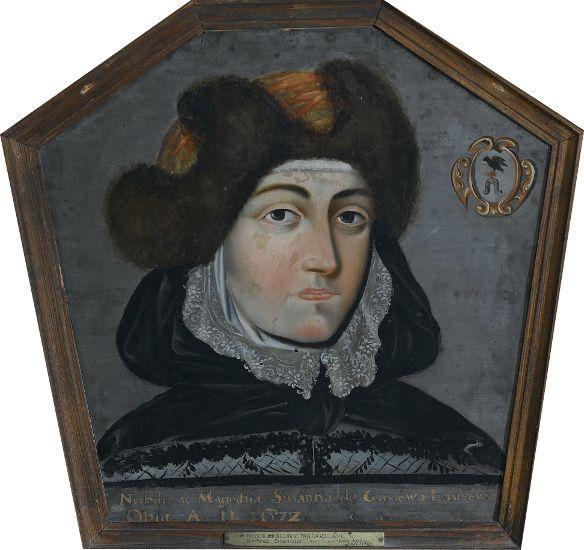 Portret trumienny Zuzanny Łuszczewskiej, malarz polski, 2.poł. XVII w., Muzeum Narodowe w Warszawie