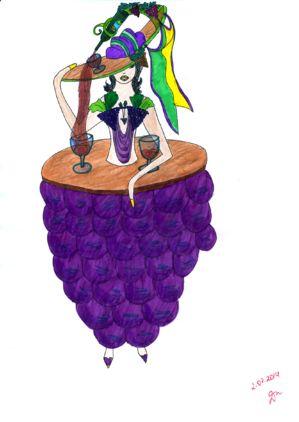 Богиня Виноделия (The Goddess Of Winemaking) Мой эскиз/My sketch  #fashion #Style #мода #design #designer #дизайнер #стиль #Goddess