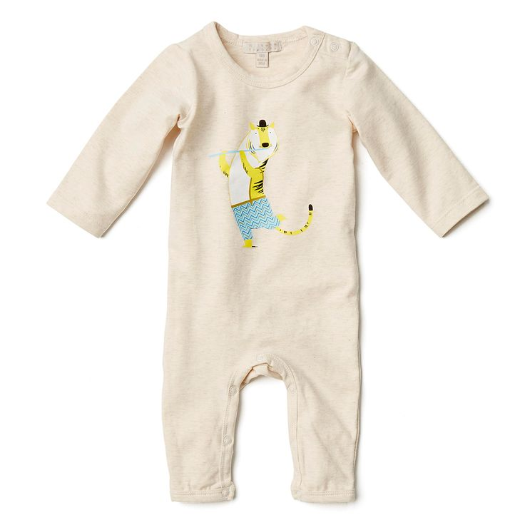 Wilson and Frenchy cute Mr tiger growsuit, available in sizes newborn to 0