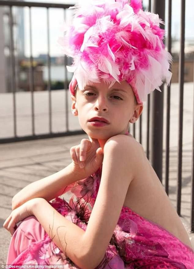 Amazing: 10-year-old Desmond Napoles from Brooklyn in New York City has founded the first drag club for kids
