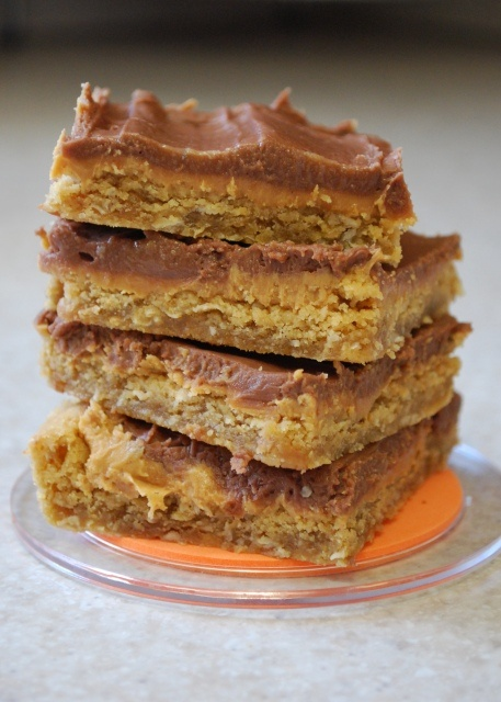 Old School Peanut Butter Bars (a.k.a. Cafeteria Peanut Butter Bars) - bake in jelly roll or half-sheet pan.