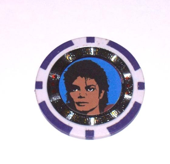A Michael Jackson casino chip... I would love to make this into a necklace.