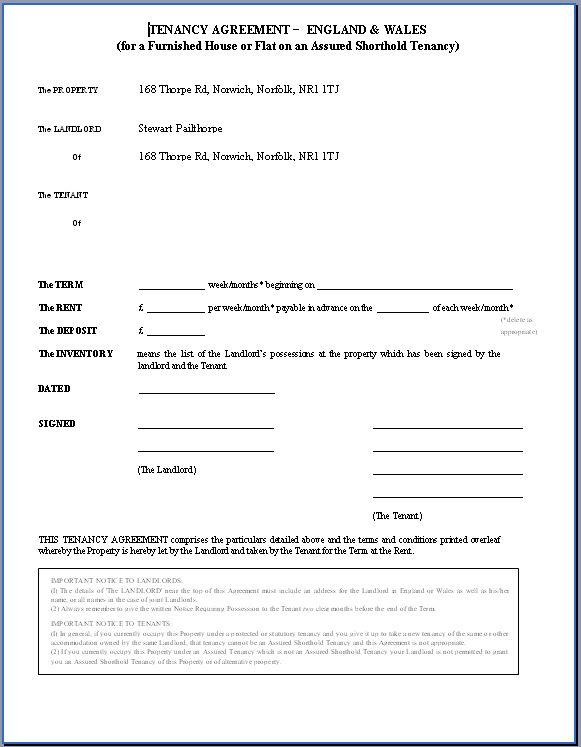 Printable Sample Rental Agreement Doc Form Real Estate