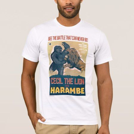 Cecil The Lion VS Harambe The Gorilla Movie T-Shirt - click to get yours right now!