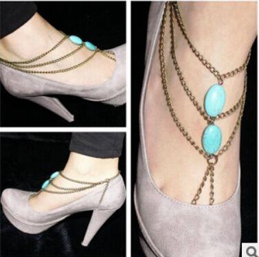 Дешевое Минимальный заказ $ 6 ( заказ ) a001, Мода синий камень сплава цепочки кисточкой лето ножные браслеты оптовая продажа, Купить Качество Ножные браслеты непосредственно из китайских фирмах-поставщиках: