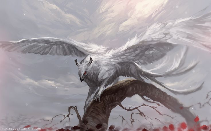 Winged Deity by Kipine gryphon griffon monster beast creature animal | Create your own roleplaying game material w/ RPG Bard: www.rpgbard.com | Writing inspiration for Dungeons and Dragons DND D&D Pathfinder PFRPG Warhammer 40k Star Wars Shadowrun Call of Cthulhu Lord of the Rings LoTR + d20 fantasy science fiction scifi horror design | Not Trusty Sword art: click artwork for source