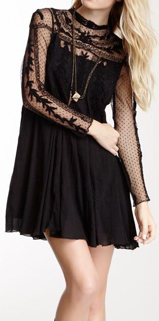 dot lace dress
