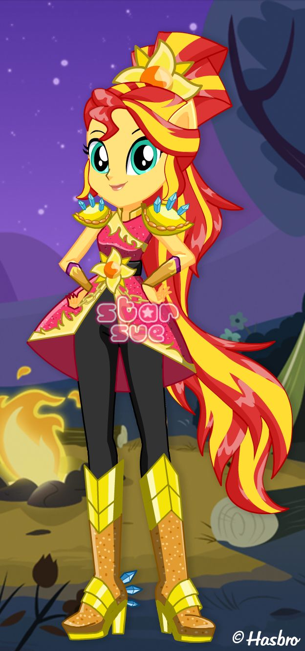 My Little Pony Equestria Girls Legend of Everfree Crystal Guardian Sunset Shimmer Dress Up Game : http://www.starsue.net/game/Crystal-Guardian-Sunset-Shimmer.html Have Fun! -♥-