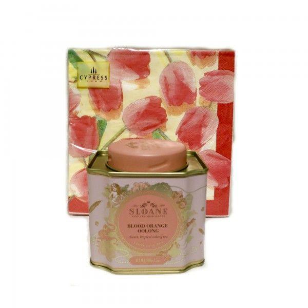 Sloane Tea & Napkin Gift Set