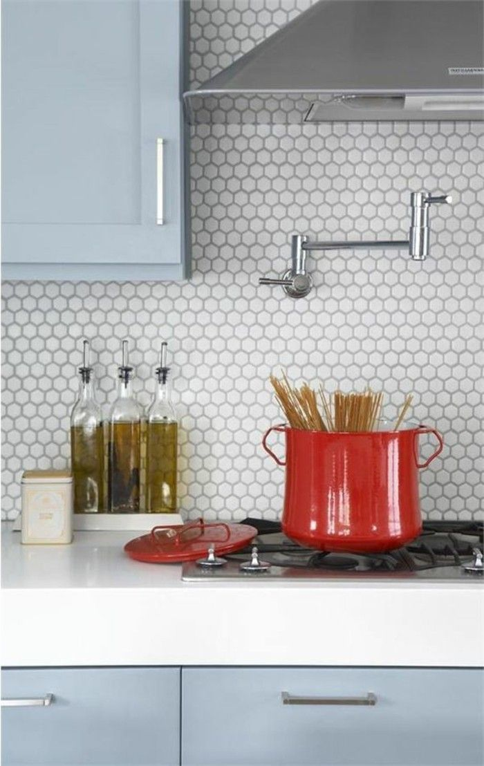 carreaux muraux hexagonaux, petites tuiles hexagonales au mur