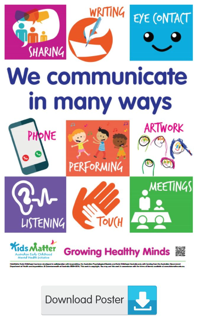 We communicate in many ways | kidsmatter.edu.au Early Childhood Mental Health